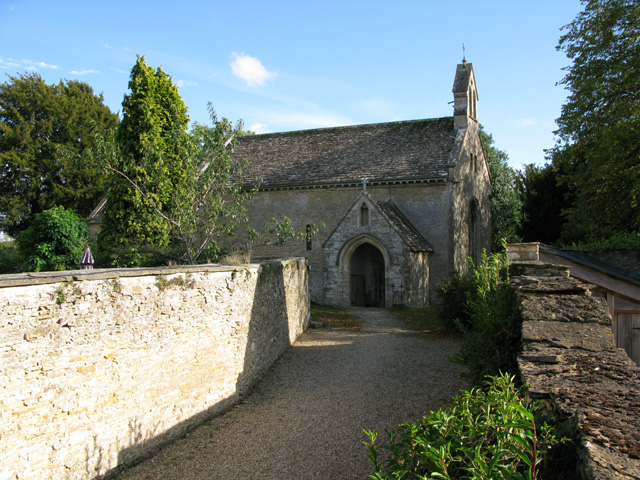 Path to St Peter's church, Southrop