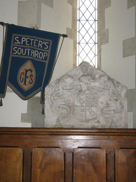 Interior shot of St Peter's church, Southrop