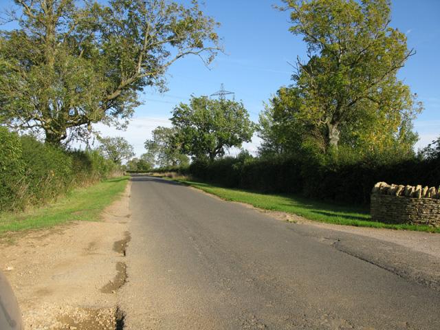 Road near Langford Downs Farm