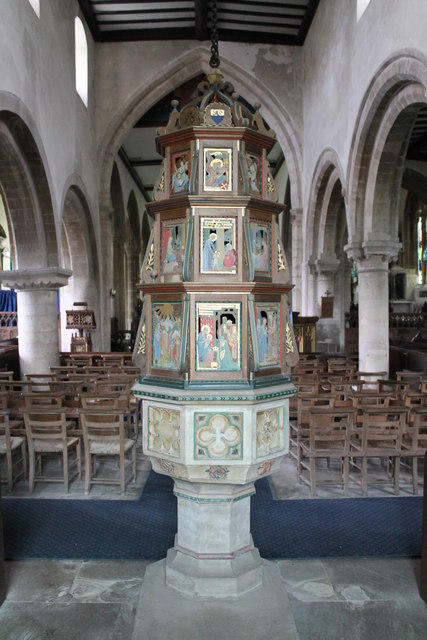 Font and cover, Ss Andrew & Mary's church, Stoke Rochford