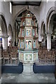 SK9227 : Font and cover, Ss Andrew & Mary's church, Stoke Rochford by J.Hannan-Briggs