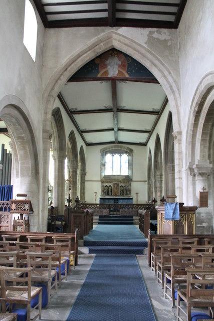 Interior, Ss Andrew & Mary's church, Stoke Rochford