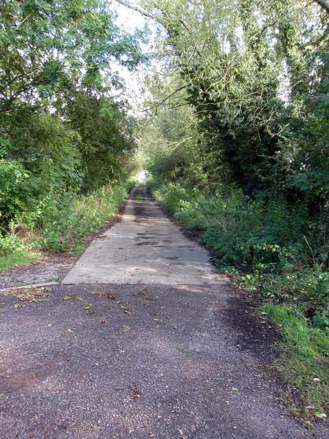 Track up to the sewage works