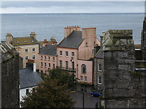 SC2667 : Castletown square from the castle walls by Andrew Abbott