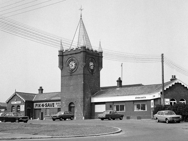 Former railway station, Newcastle - 1979
