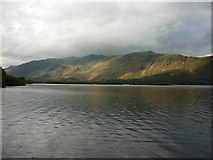 NY2619 : Looking south along Derwent Water by Ian S