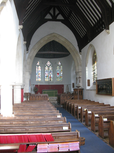The interior of St Peter's church, Filkins