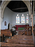 SP2304 : Pulpit and altar of St Peter's church, Filkins by Nick Smith