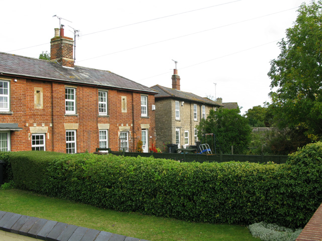 Two styles of housing on Beechcroft Road
