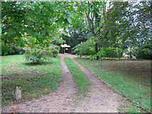 SP2303 : Footpath to St Peter's church, Broughton Poggs by Nick Smith