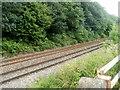 SO3204 : Railway viewed from Newtown Road, Penperlleni by Jaggery