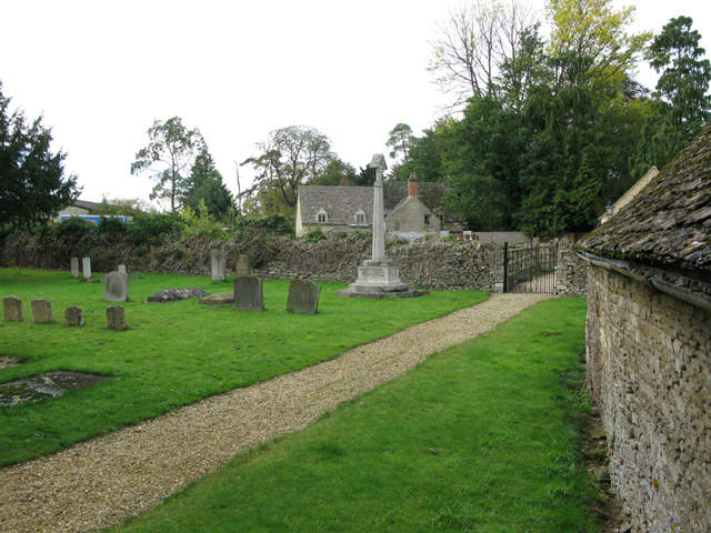 The church path, St Peter's, Broughton Poggs