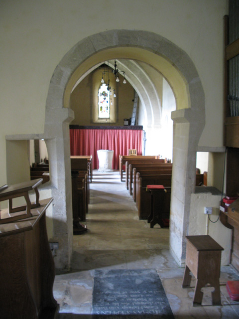Interior view of St Peter's church
