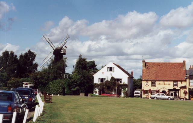 The inn and windmill at Meopham Green