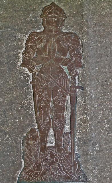 Brass of Henry Rochford, Ss Andrew & Mary's church, Stoke Rochford