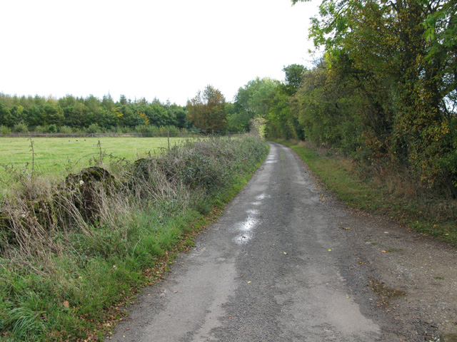 Minor road leading to the A361