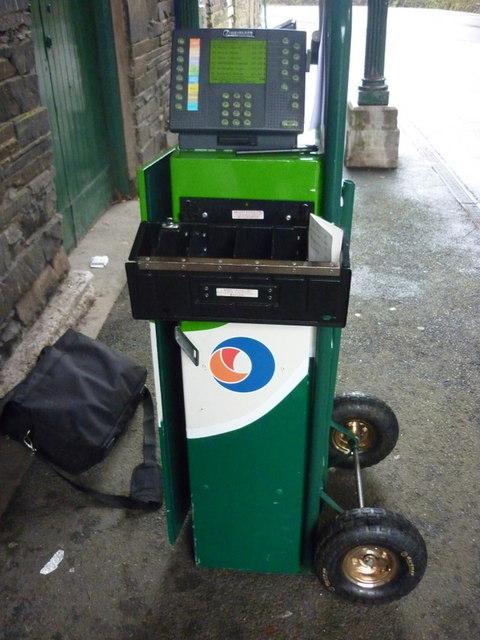 A mobile ticket machine