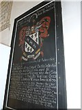 ST6601 : St Mary, Cerne Abbas: coat of arms by Basher Eyre