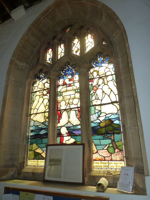 St Mary, Cerne Abbas: stained glass window (a)