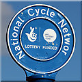 TQ7607 : National Cycle Network sign by Oast House Archive