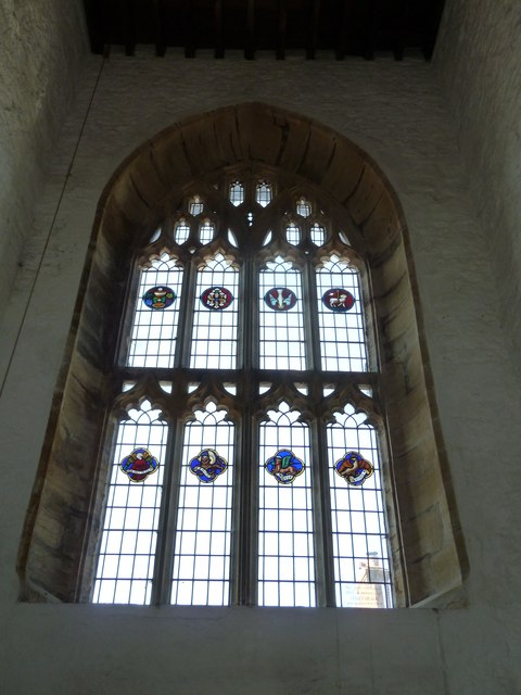 St Mary, Cerne Abbas: stained glass window (b)