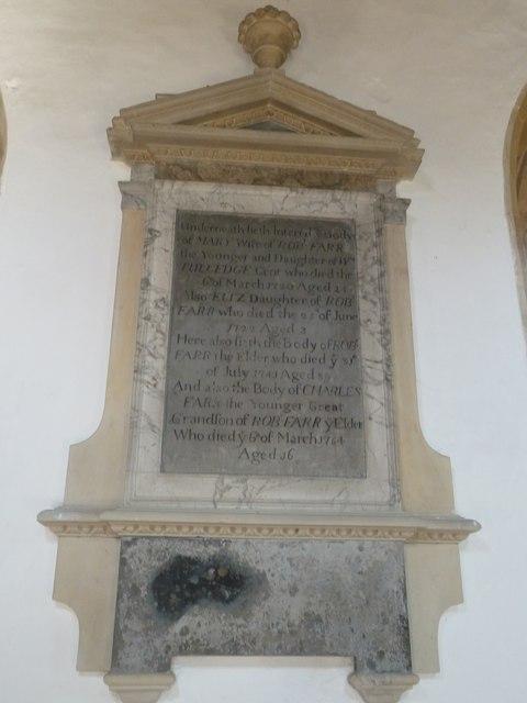 St Mary, Cerne Abbas: memorial (3)