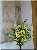 ST6601 : St Mary, Cerne Abbas: flowers by Basher Eyre