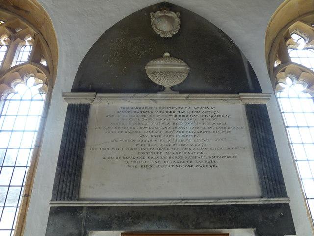 St Mary, Cerne Abbas: memorial (11)