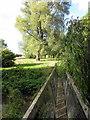 SP7726 : Footbridge over the brook by Philip Jeffrey