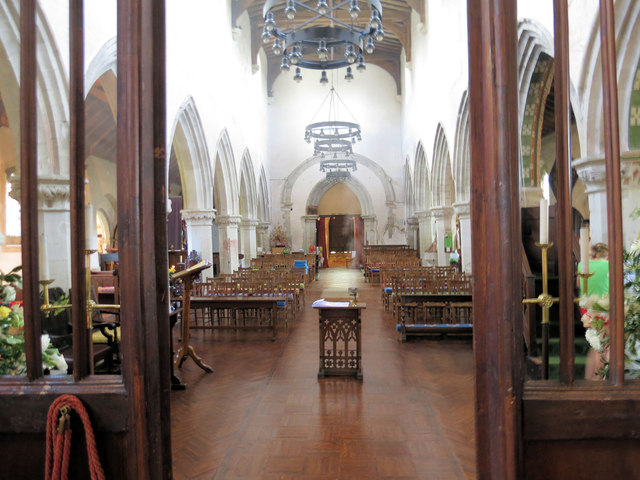 The Nave from the Chancel, St Leonard's Church, Flamstead