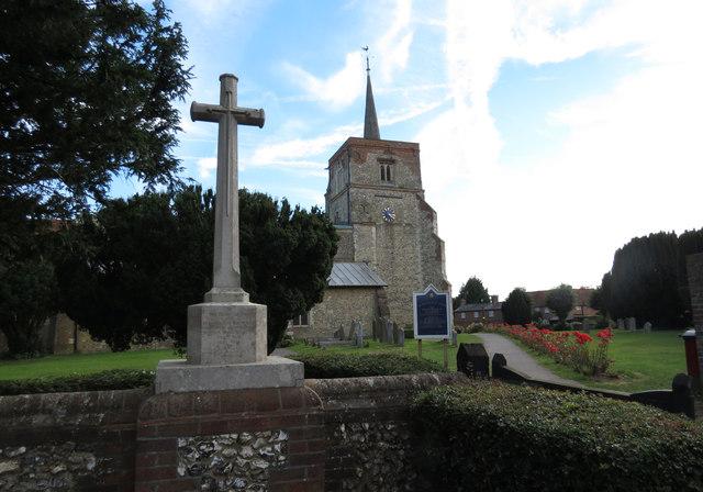 Flamstead War Memorial and St Leonard's Church