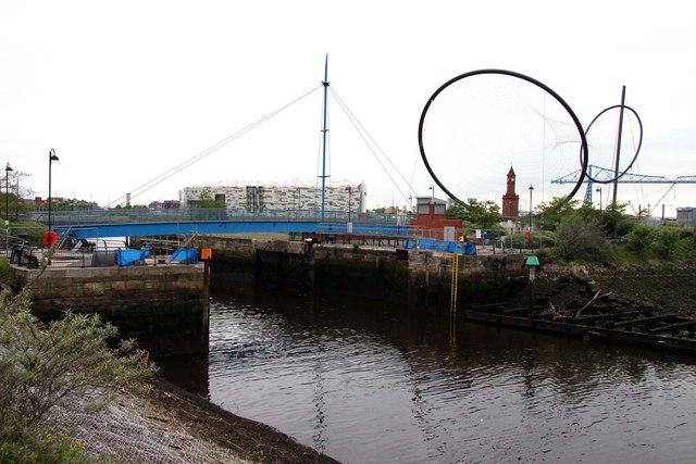 Lock gates into Middlesbrough Dock