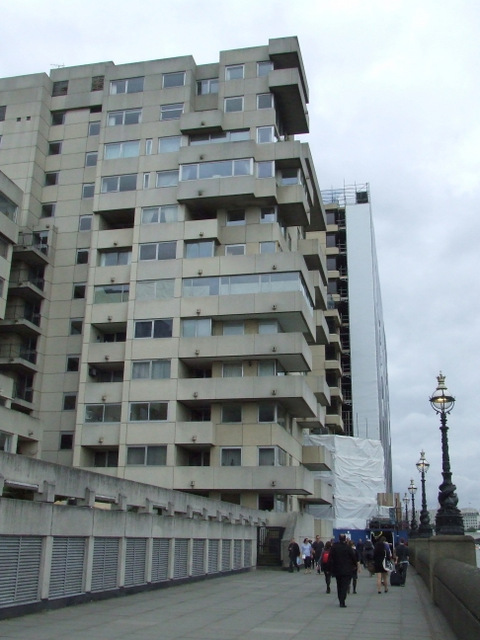 Brutalist architecture on the South Bank