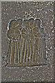 SK9227 : Brass showing sons of Oliver St John, Stoke Rochford church by J.Hannan-Briggs