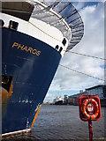 NT2677 : Coastal Edinburgh : Pharos and Britannia  In The Western Harbour, Port of Leith by Richard West