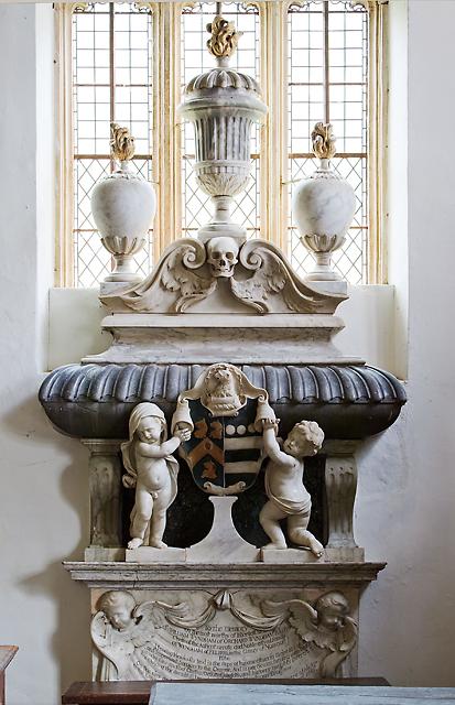 St Decuman's church, Watchet - monument to Sir William Wyndham