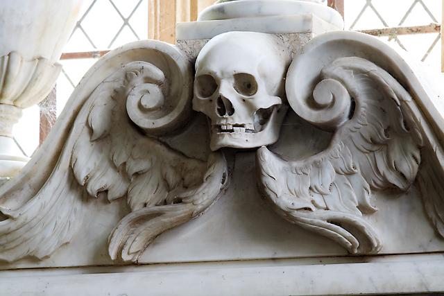 St Decuman's church, Watchet - monument to Sir William Wyndham (3) detail