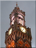 SE1632 : Bradford: City Hall clock tower at dusk by Chris Downer