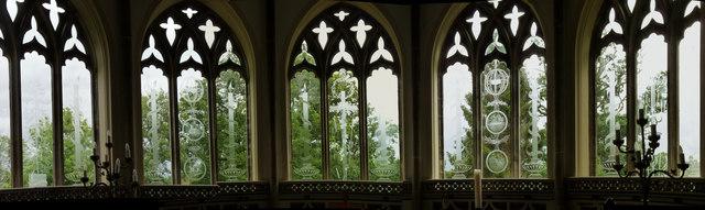 Moreton church chancel windows