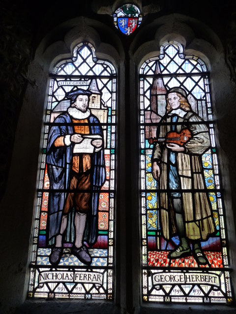 Stained glass window in west end