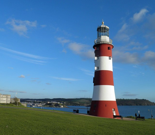 Smeaton's tower bathes in late evening sunshine