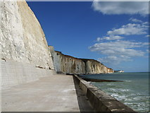 TQ4200 : Cliffs at Peacehaven Heights by Paul Gillett