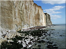 TQ4200 : Cliffs and Beaches at Peacehaven Heights by Paul Gillett