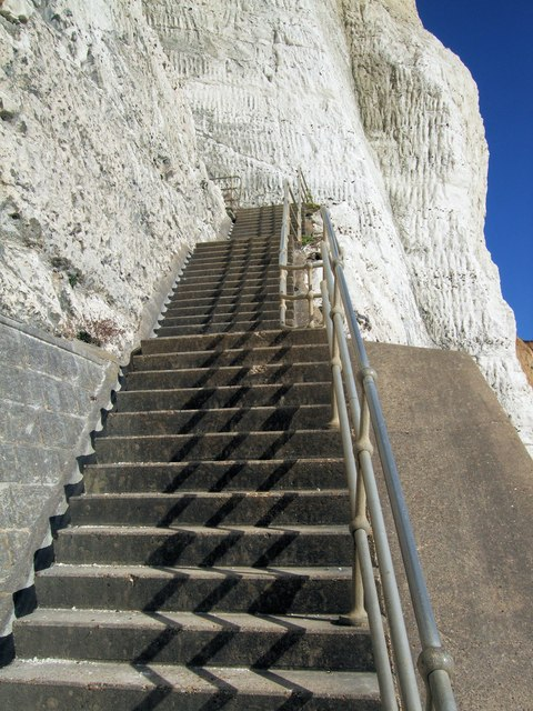 Steps from Undercliff at Peacehaven