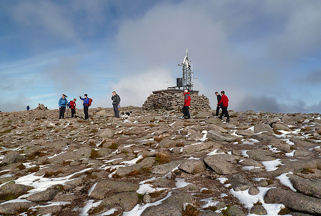 At the summit area of Cairn Gorm