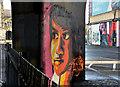 J3474 : Flyover painting, Belfast by Albert Bridge