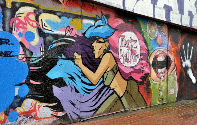 Graffiti, Lower Garfield Street, Belfast