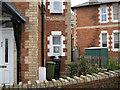SX9473 : Polychrome brickwork, Lower Brimley Road by Robin Stott