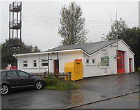 SN8746 : Side view of Llanwrtyd Wells Fire Station by Jaggery