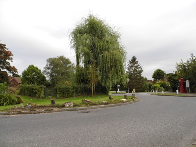 Roundabout on High Street Otford